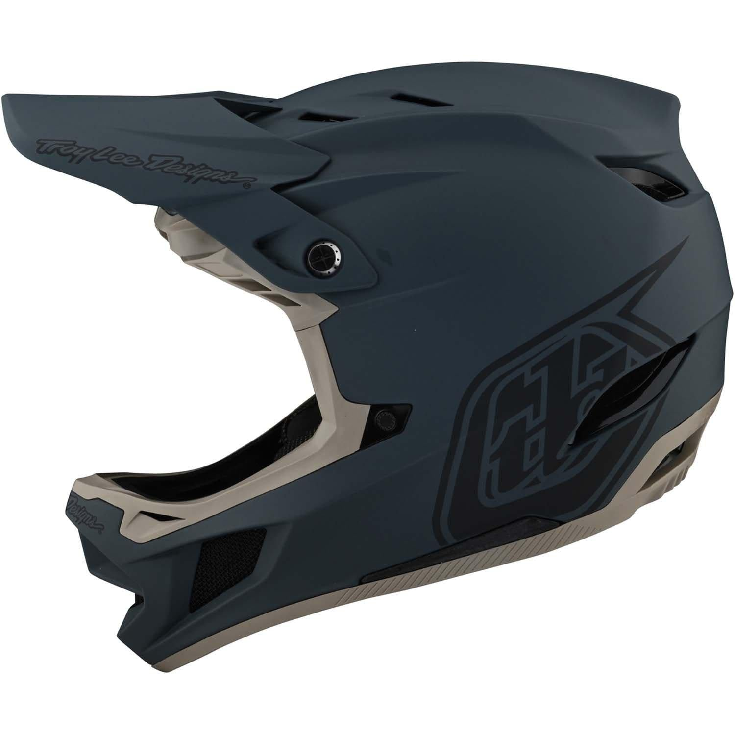 Troy Lee Designs-Troy Lee Designs D4 Composite Helmet-Gray-XS-TLD140437011-saddleback-elite-performance-cycling