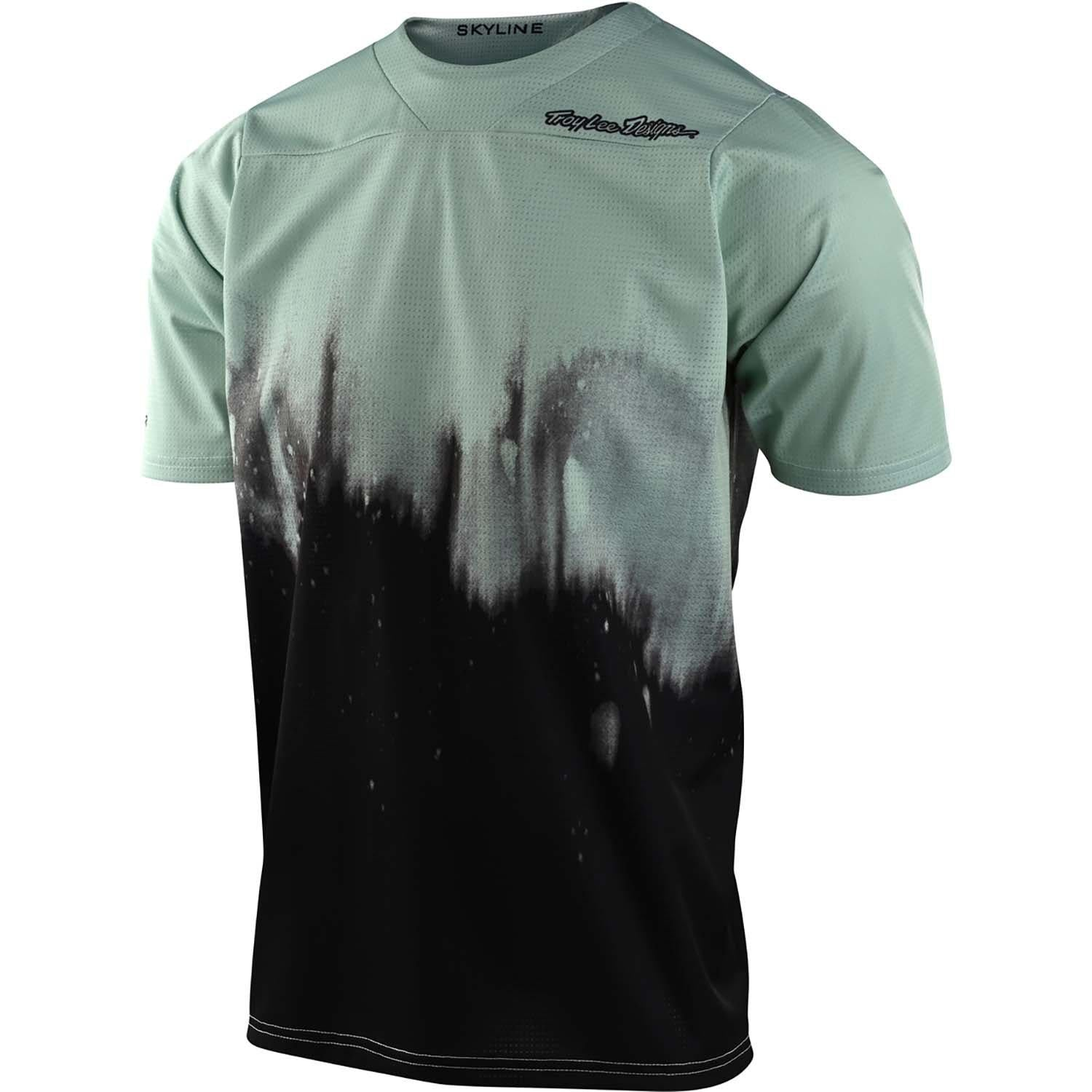 Troy Lee Designs-Troy Lee Designs Skyline Youth Jersey-Smoke Green/Black-Y-L-TLD328890004-saddleback-elite-performance-cycling