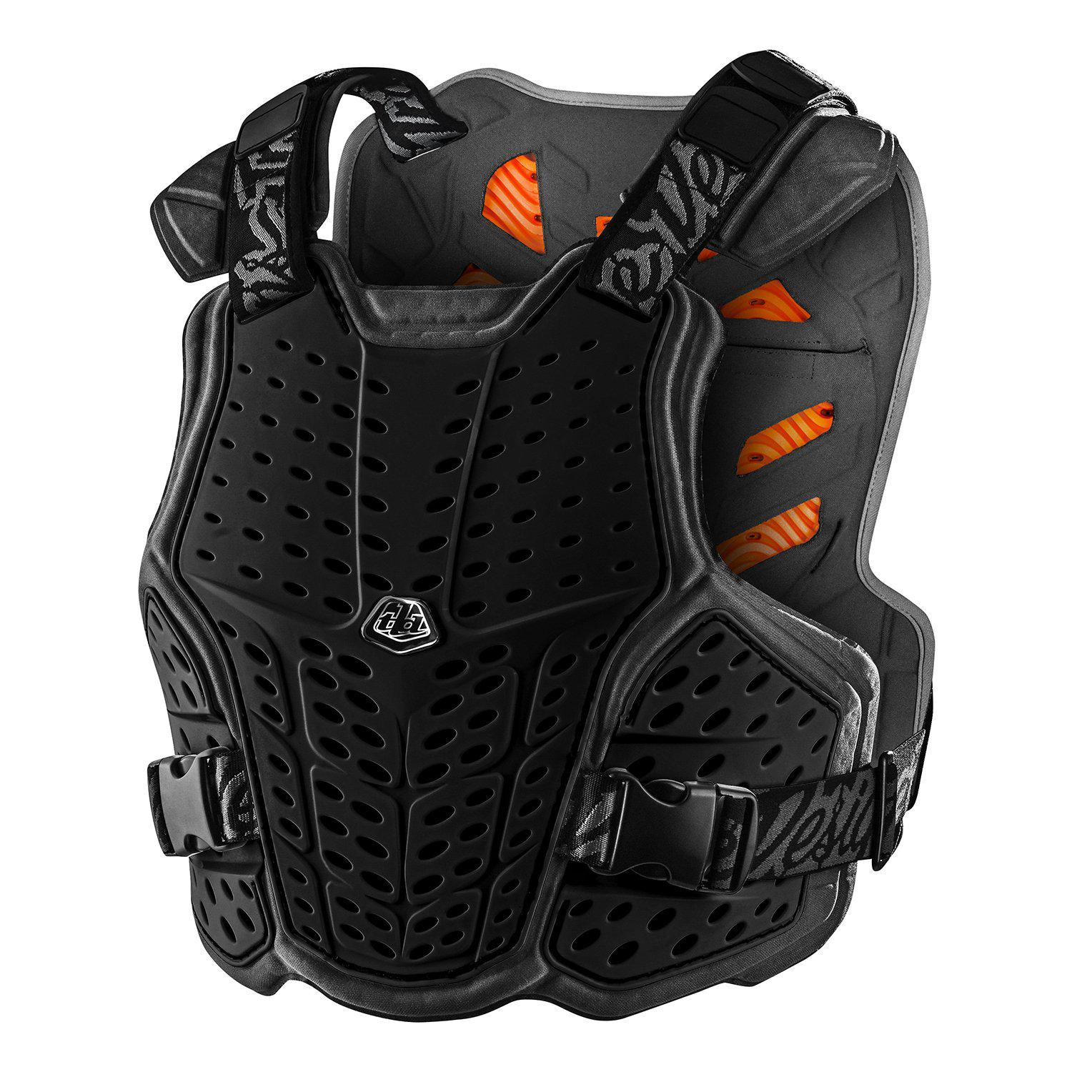 Troy Lee Designs-Troy Lee Designs Rockfight CE Chest Protector-Black-XS/S-TLD584003001-saddleback-elite-performance-cycling