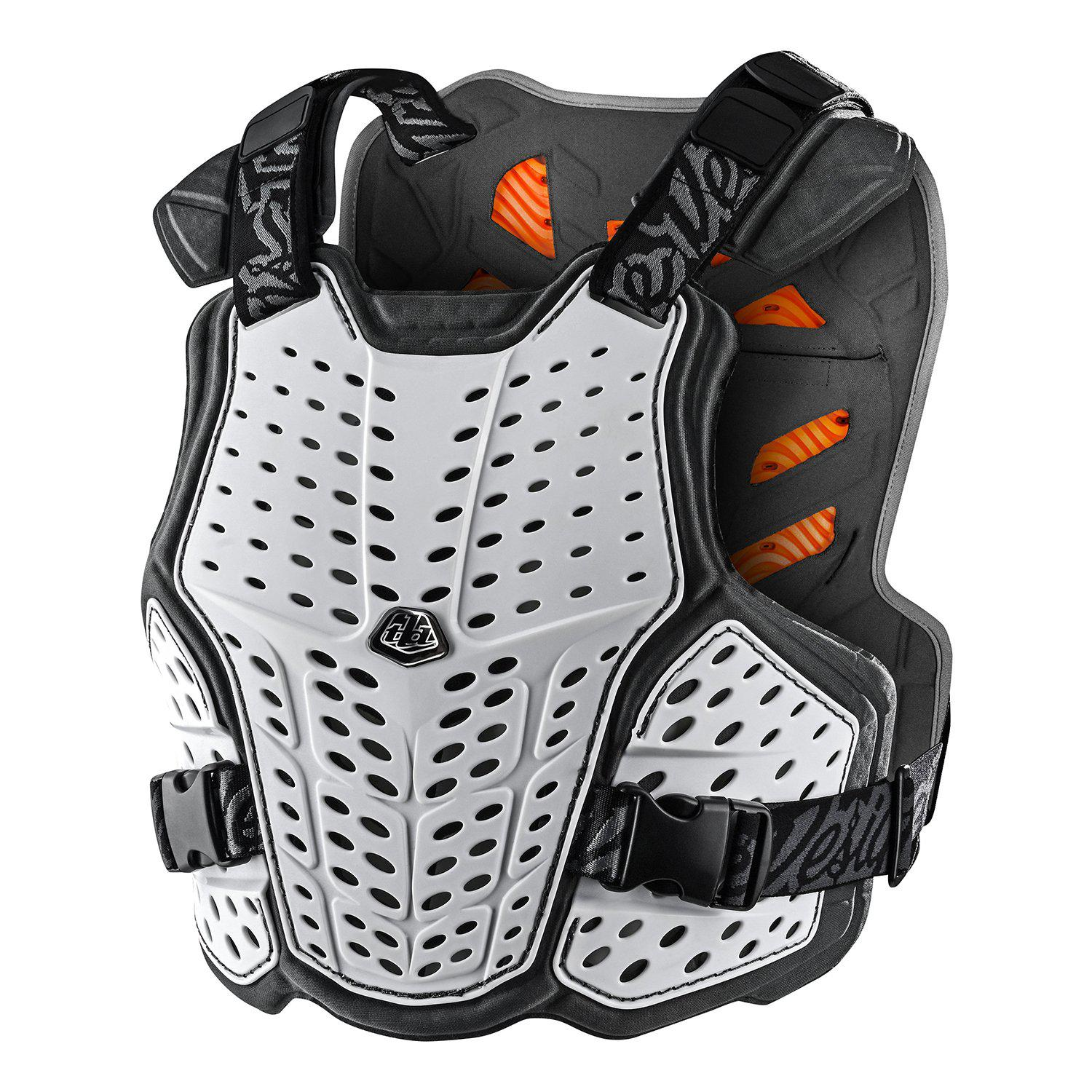 Troy Lee Designs-Troy Lee Designs Rockfight CE Chest Protector-White-XS/S-TLD584003011-saddleback-elite-performance-cycling