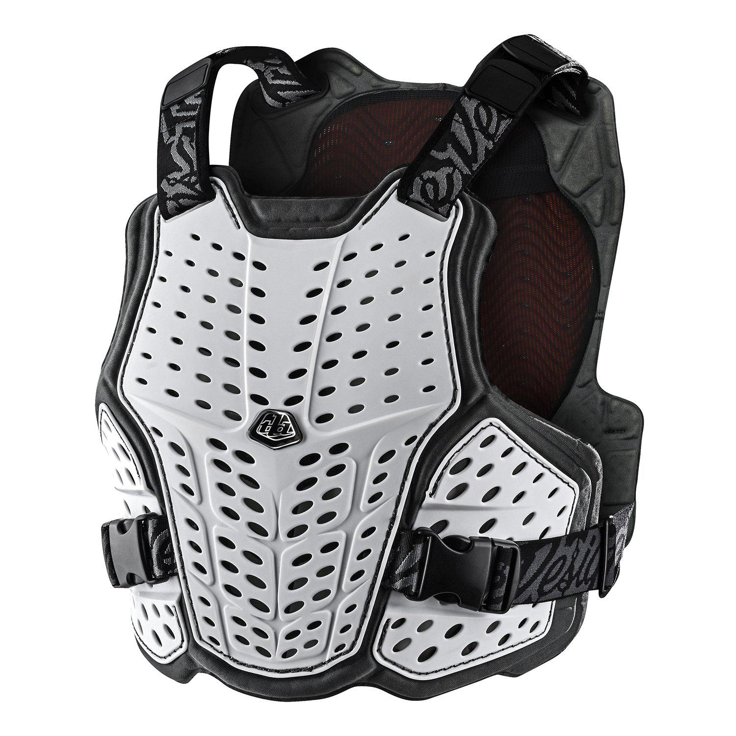 Troy Lee Designs-Troy Lee Designs Rockfight Chest Protector-White-XS/S-TLD582003011-saddleback-elite-performance-cycling