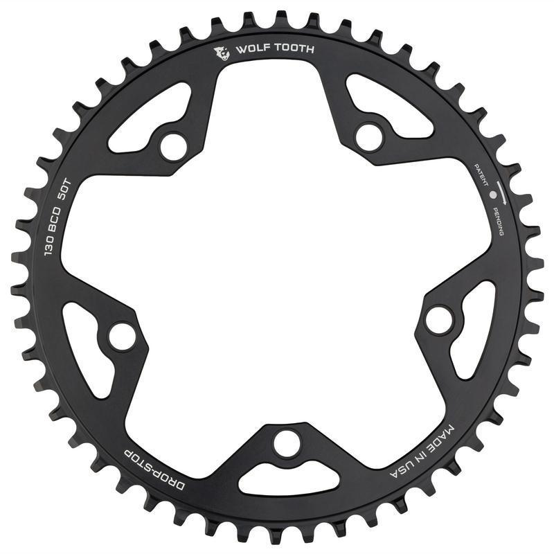 Wolf Tooth-Wolf Tooth 130 BCD Cyclocross Flattop Chainring-Black-38t-WT13038FT-saddleback-elite-performance-cycling