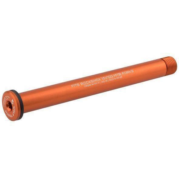 Wolf Tooth-Wolf Tooth Axle for Rock Shox and Fat Forks-100mm-Orange-WTAXLE15100SRORG-saddleback-elite-performance-cycling