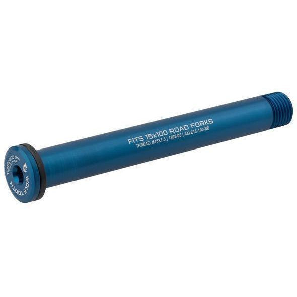 Wolf Tooth-Wolf Tooth Axle for Road Forks-Blue-100mm-WTAXLE15100RDBLU-saddleback-elite-performance-cycling