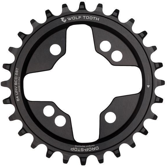 Wolf Tooth-Wolf Tooth 64 BCD Chainring-Black-26t-WT6426UNVSL-saddleback-elite-performance-cycling
