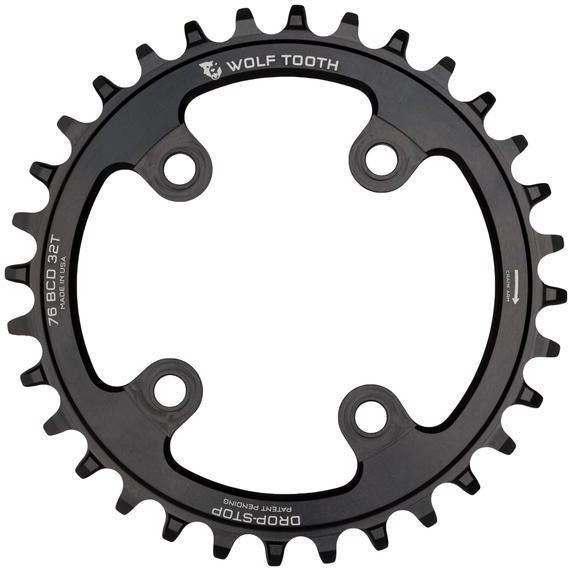 Wolf Tooth-Wolf Tooth 76 BCD Chainring-Black-30t-WT7630-saddleback-elite-performance-cycling