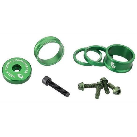 Wolf Tooth-Wolf Tooth Anodised Bling Kit-Green-Uni-WTBLINGKITGreen-saddleback-elite-performance-cycling
