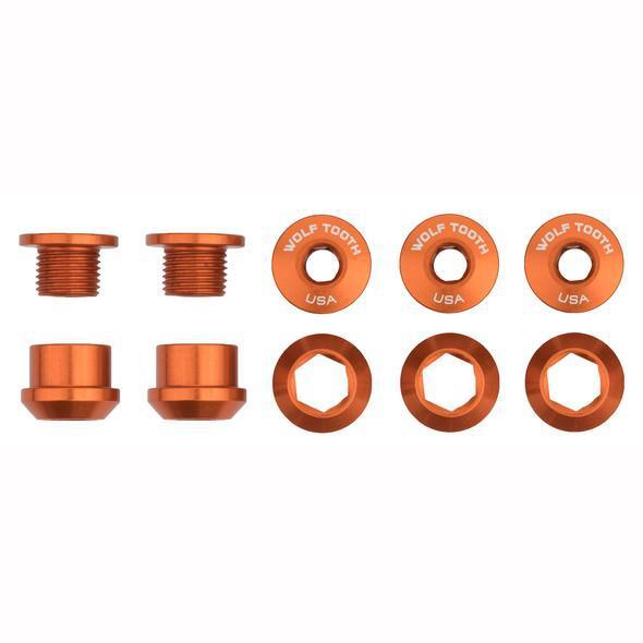 Wolf Tooth-Wolf Tooth Chainring Bolts - Set of 5-Orange-Set of 5-WT5CBCN06ORG-saddleback-elite-performance-cycling