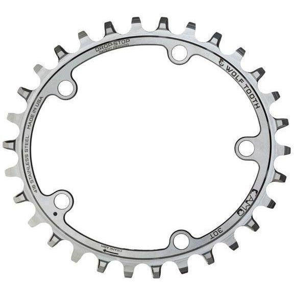 Wolf Tooth-Wolf Tooth CAMO Stainless Steel Elliptical Chainring-Stainless Steel-30t-WTELPCAMOSS30-saddleback-elite-performance-cycling