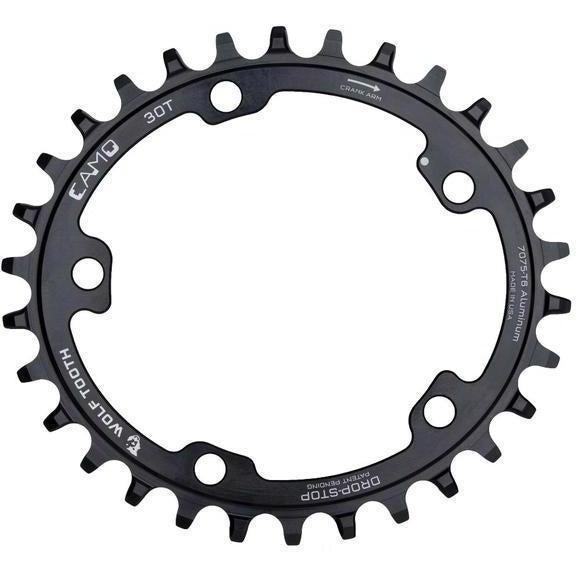 Wolf Tooth-Wolf Tooth CAMO Aluminium Elliptical Chainring-Black-34t-WTELPCAMOAL34-saddleback-elite-performance-cycling