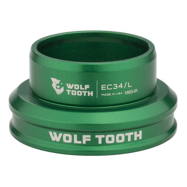 Wolf Tooth-Wolf Tooth Performance External Cup Headset-Lower EC34/33-Green-WTEC34L30GRNB-saddleback-elite-performance-cycling