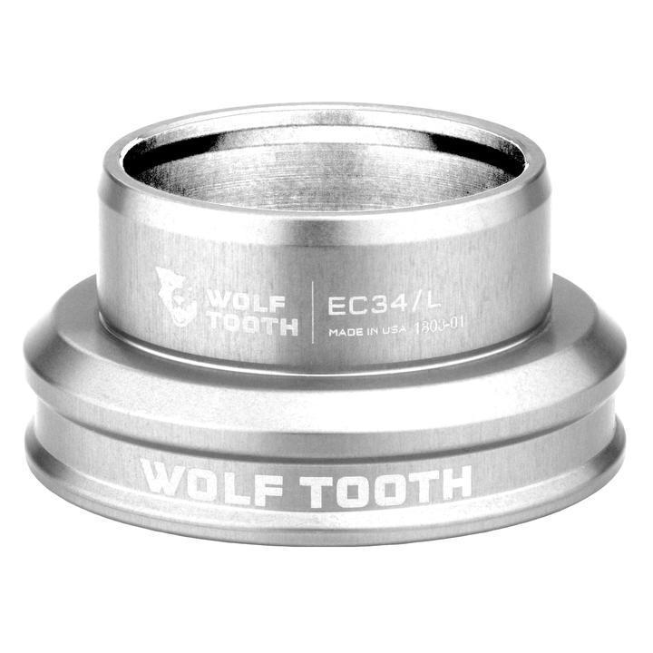 Wolf Tooth-Wolf Tooth Performance External Cup Headset-Lower EC34/38-Silver-WTEC34L30SILB-saddleback-elite-performance-cycling