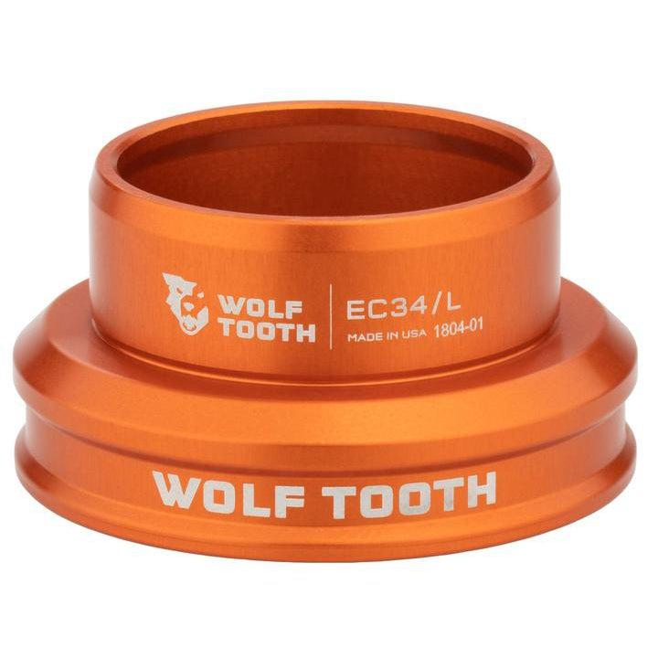 Wolf Tooth-Wolf Tooth Performance External Cup Headset-Lower EC34/35-Orange-WTEC34L30ORGB-saddleback-elite-performance-cycling