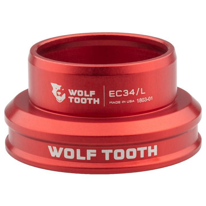 Wolf Tooth-Wolf Tooth Performance External Cup Headset-Lower EC34/37-Red-WTEC34L30REDB-saddleback-elite-performance-cycling