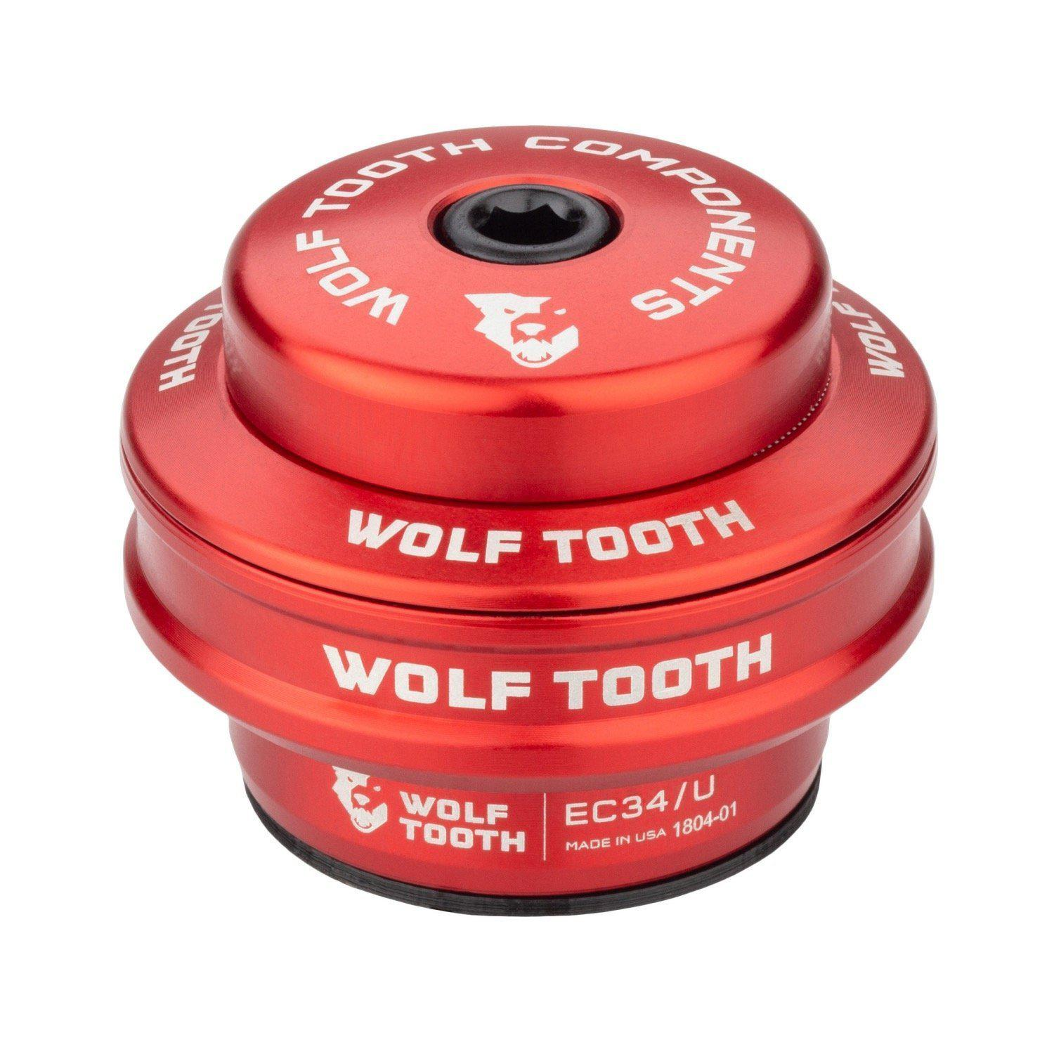 Wolf Tooth-Wolf Tooth Performance External Cup Headset-Upper EC34/28.6-Red-WTEC34U5MMREDB-saddleback-elite-performance-cycling
