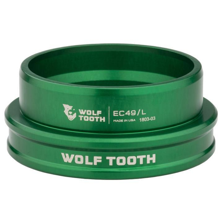 Wolf Tooth-Wolf Tooth Performance External Cup Headset-Lower EC44/40-Green-WTEC44L40GRNB-saddleback-elite-performance-cycling