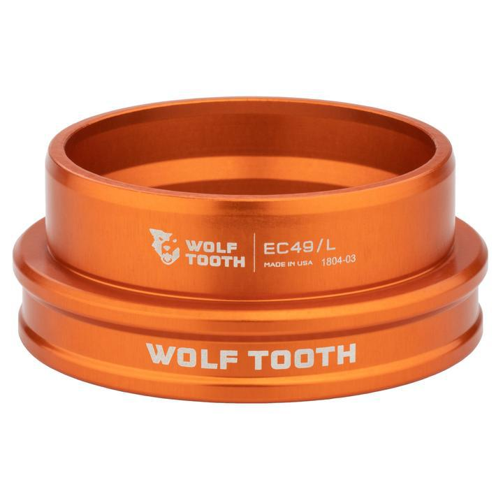 Wolf Tooth-Wolf Tooth Performance External Cup Headset-Lower EC44/40-Orange-WTEC44L40ORGB-saddleback-elite-performance-cycling
