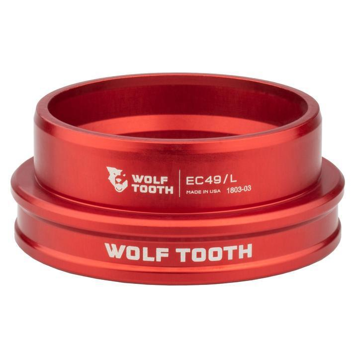 Wolf Tooth-Wolf Tooth Performance External Cup Headset-Lower EC44/40-Red-WTEC44L40REDB-saddleback-elite-performance-cycling