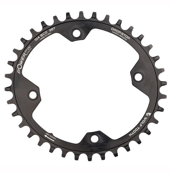Wolf Tooth-Wolf Tooth Elliptical 104 BCD Chainring for Shimano 12 speed-Black-32T-WTOVAL10432SH12-saddleback-elite-performance-cycling
