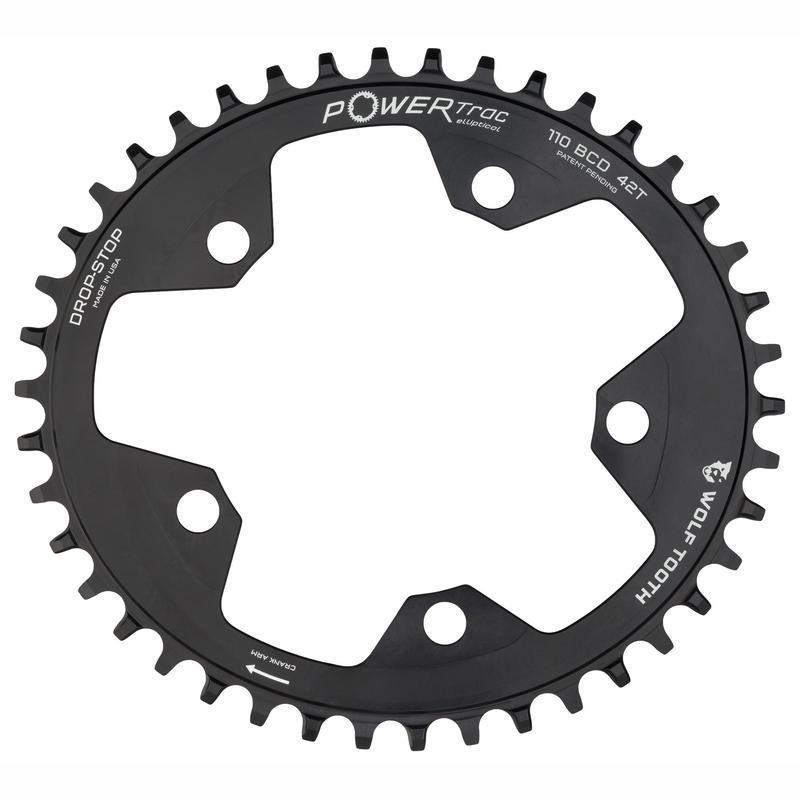 Wolf Tooth-Wolf Tooth Elliptical 110 BCD Flattop Chainring-Black-38t-WTOVAL11038FT-saddleback-elite-performance-cycling