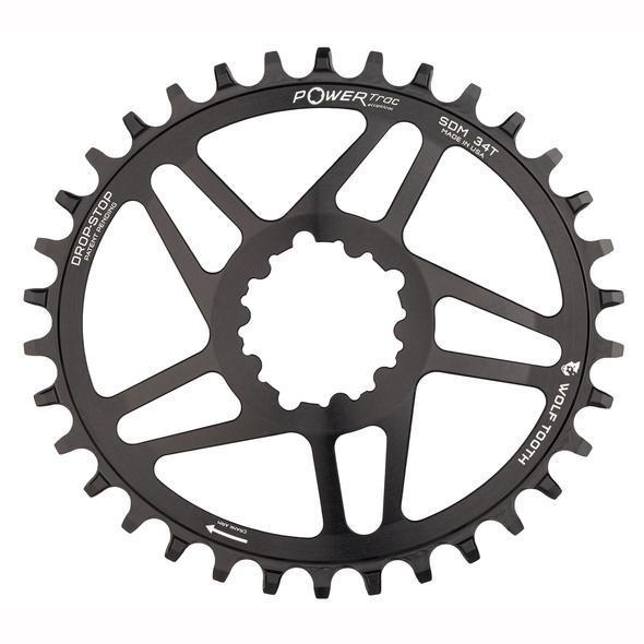 Wolf Tooth-Wolf Tooth Elliptical Direct Mount Chainring for SRAM Cranks-Black-28t BB30-WTOVALBB3028-saddleback-elite-performance-cycling