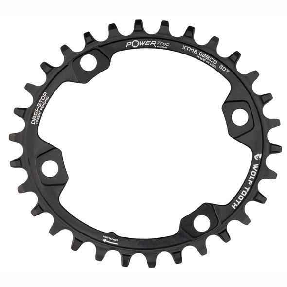 Wolf Tooth-Wolf Tooth Elliptical 96 BCD Chainring for XT M8000-Black-30t-WTOVALM8K30-saddleback-elite-performance-cycling