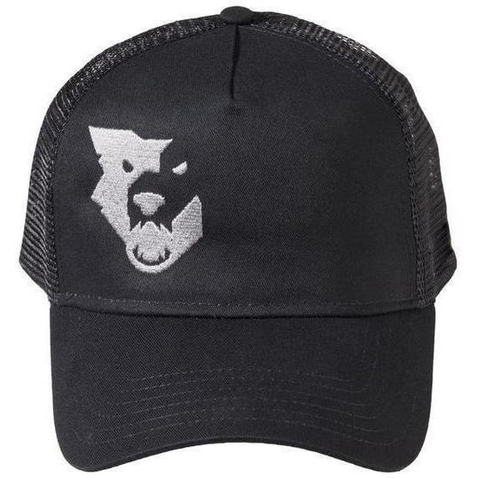 Wolf Tooth-Wolf Tooth Logo Trucker Hat-Black-One Size-WTHatBLKLogoTrucker-saddleback-elite-performance-cycling