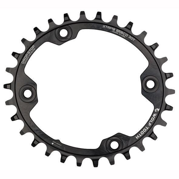 Wolf Tooth-Wolf Tooth Elliptical 96 BCD Chainring for XTR M9000/M9020-Black-32t-WTOVAL32XTRM9000-saddleback-elite-performance-cycling