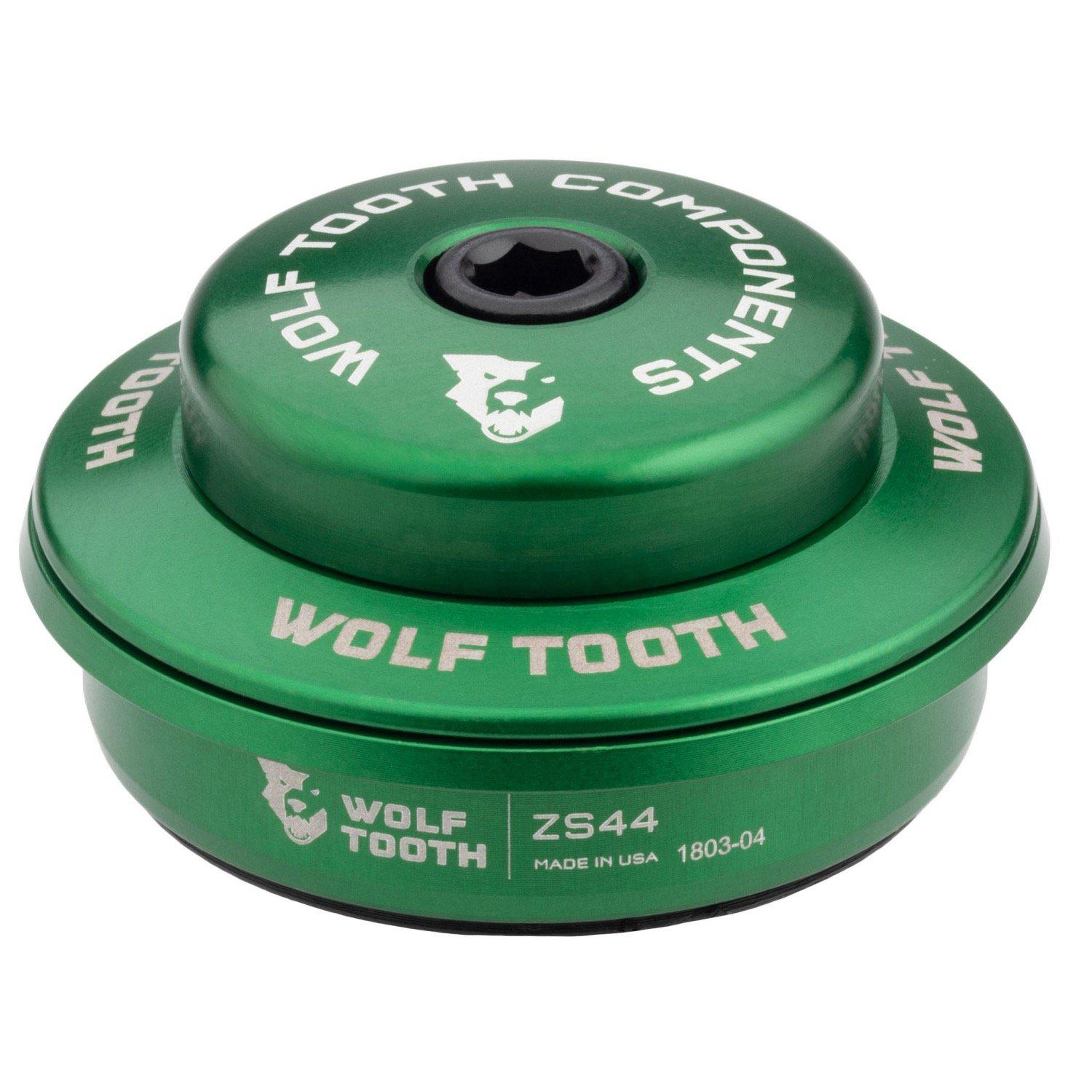 Wolf Tooth-Wolf Tooth Performance Zero Stack Headset-Upper ZS44/28.6-Green-WTZS44U5MMGRNB-saddleback-elite-performance-cycling