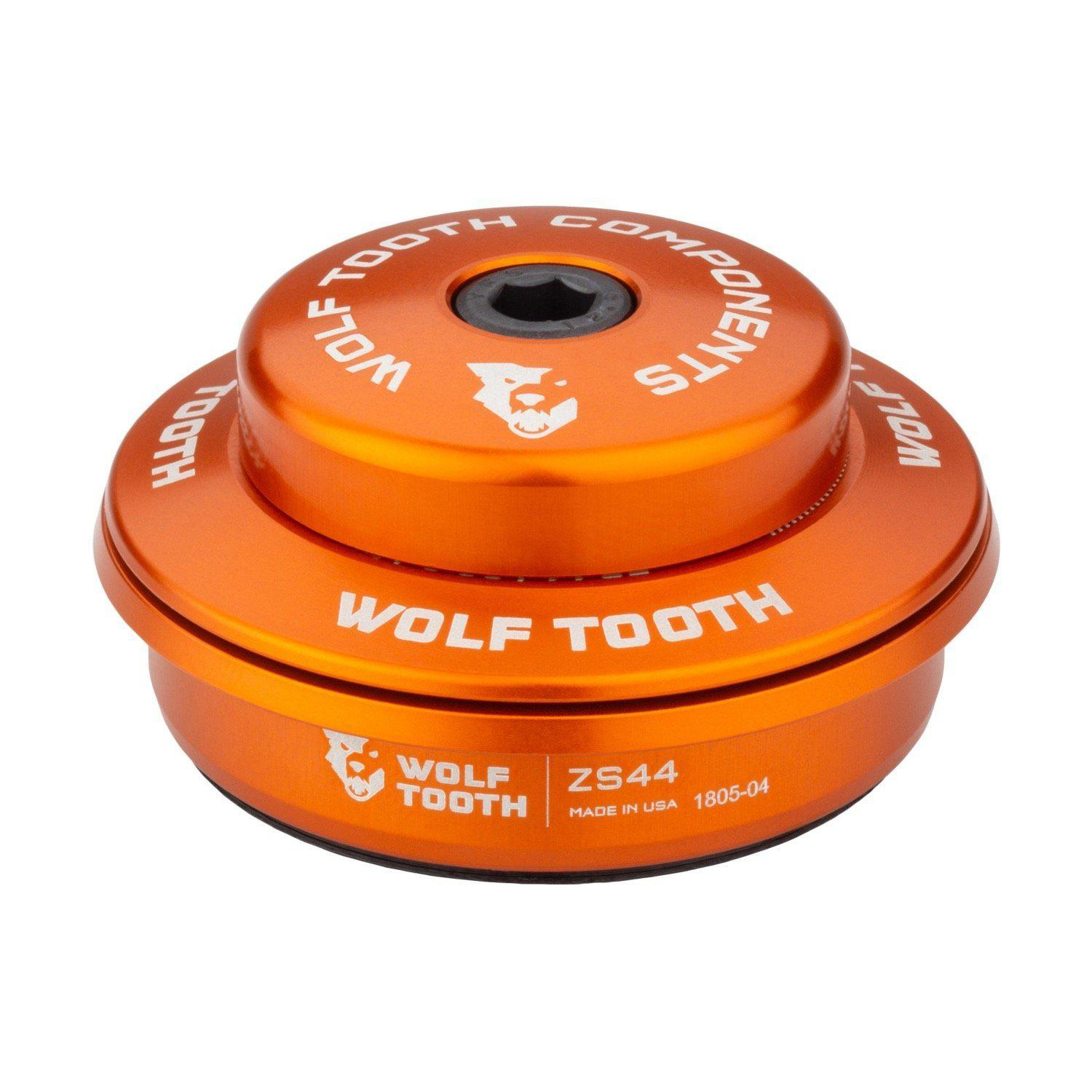 Wolf Tooth-Wolf Tooth Performance Zero Stack Headset-Upper ZS44/28.6-Orange-WTZS44U5MMORGB-saddleback-elite-performance-cycling