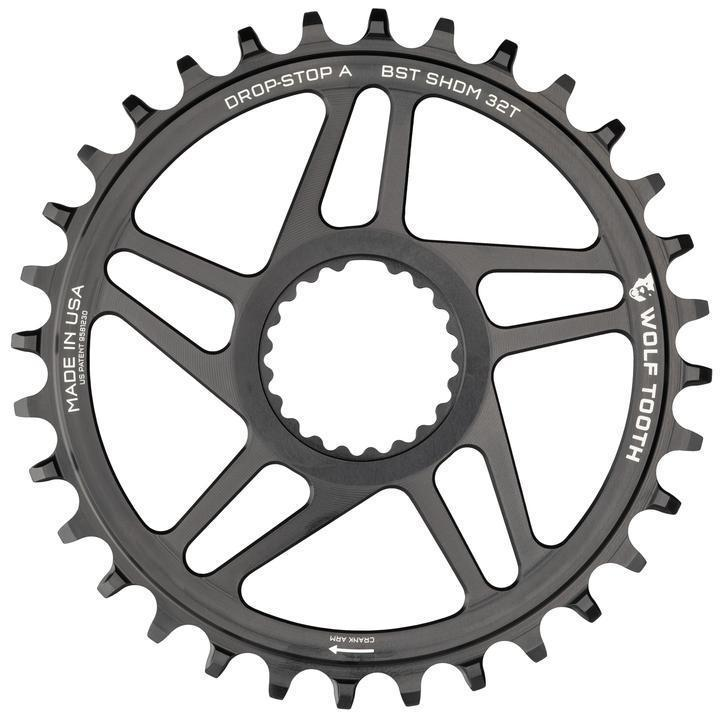 Wolf Tooth-Wolf Tooth Direct Mount Chainrings for Shimano Cranks-Shimano 32T-Black-WTSHDM32BST-saddleback-elite-performance-cycling