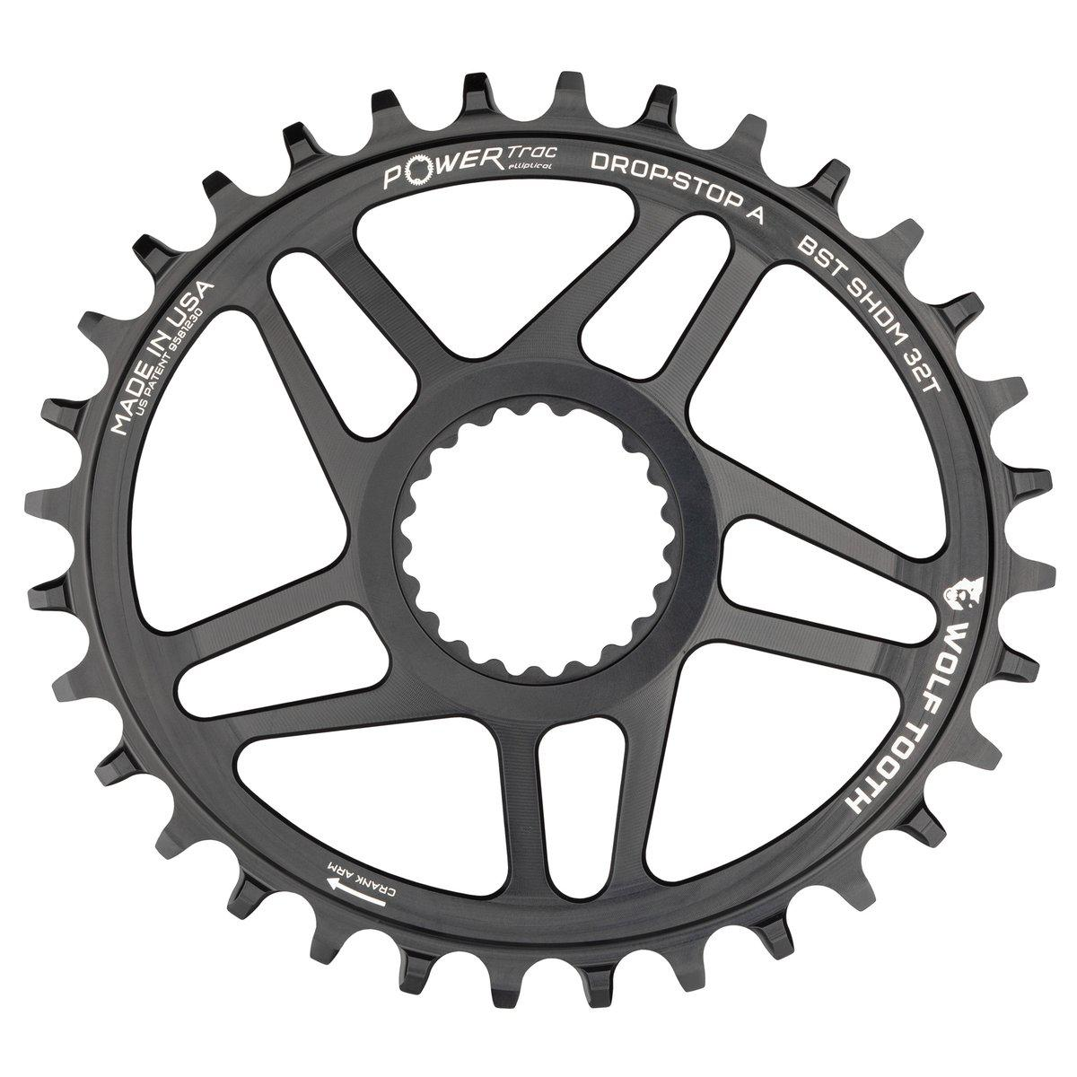 Wolf Tooth-Wolf Tooth Elliptical Direct Mount Chainrings for Shimano Cranks-Black-Shimano Boost 32T-WTOVALSHDM32BST-saddleback-elite-performance-cycling