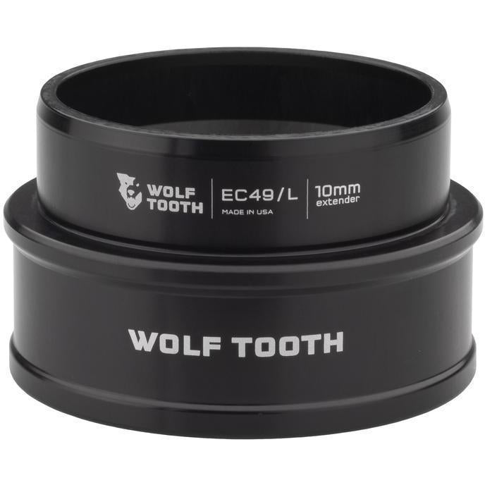 Wolf Tooth-Wolf Tooth Lower Headset Cup Extender - External Cup-Black-10mm-WTEC49L40BLKP10-saddleback-elite-performance-cycling