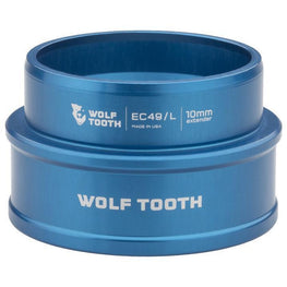 Wolf Tooth-Wolf Tooth Lower Headset Cup Extender - External Cup-Blue-10mm-WTEC49L40BLUP10-saddleback-elite-performance-cycling