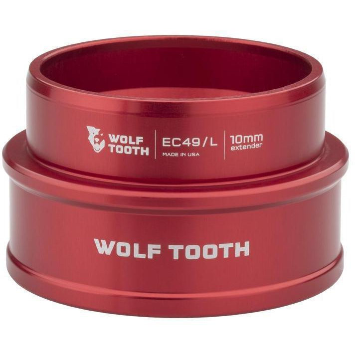 Wolf Tooth-Wolf Tooth Lower Headset Cup Extender - External Cup-Red-10mm-WTEC49L40REDP10-saddleback-elite-performance-cycling
