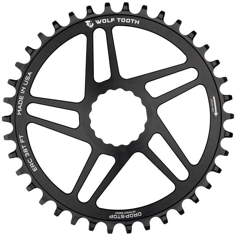 Wolf Tooth-Wolf Tooth Direct Mount Flattop Chainring for Easton Cinch-Black-38t-WTERC38FT-saddleback-elite-performance-cycling