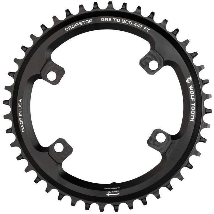 Wolf Tooth-Wolf Tooth 110 BCD 4 Bolt Chainring for Shimano GRX-Black-38T-WTSH11038GR-saddleback-elite-performance-cycling