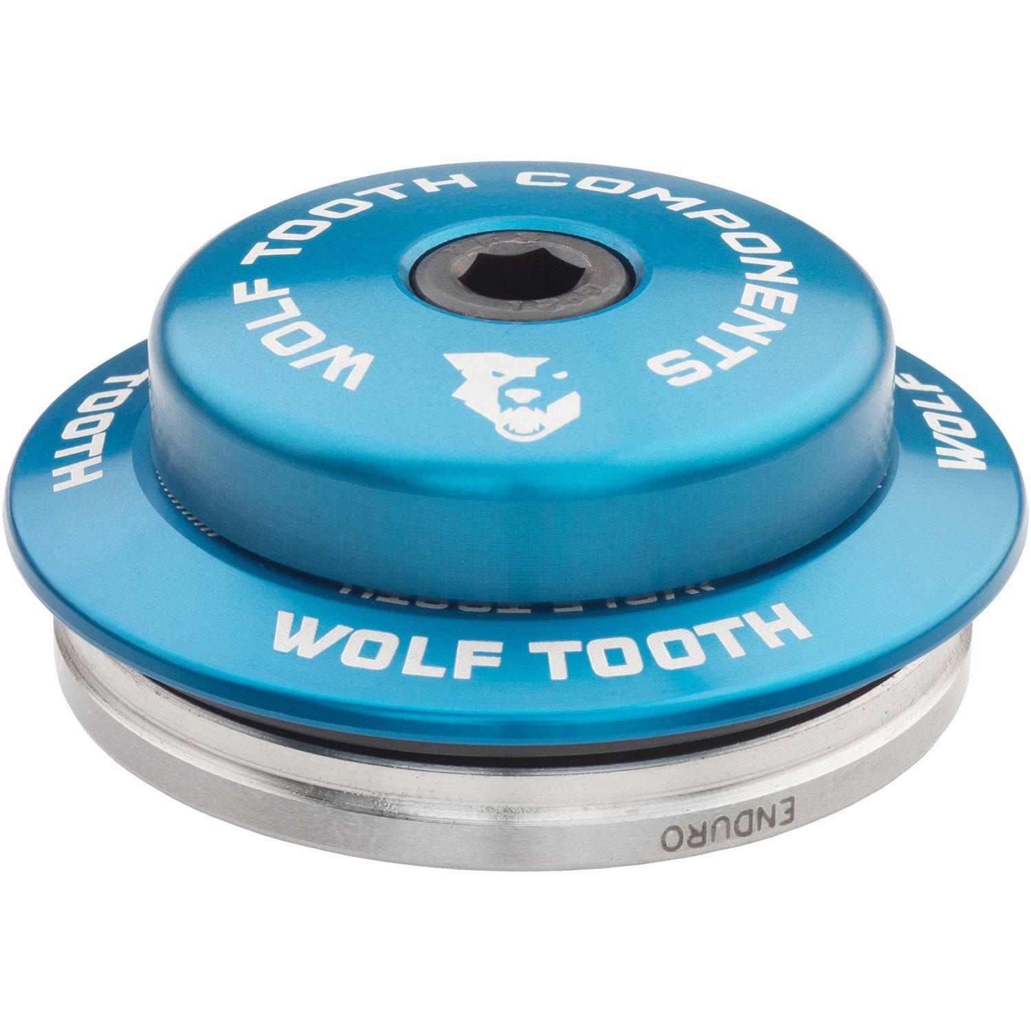 Wolf Tooth-Wolf Tooth Premium Integrated Standard Headset For Specialized-Blue-IS42 Upper - 3mm Stack-WTIS42USPEC3MMBLU-saddleback-elite-performance-cycling