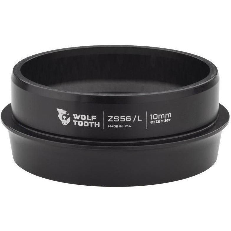 Wolf Tooth-Wolf Tooth Lower Headset Cup Extender - Zero Stack-Black-10mm-WTZS56L40BLKP10-saddleback-elite-performance-cycling