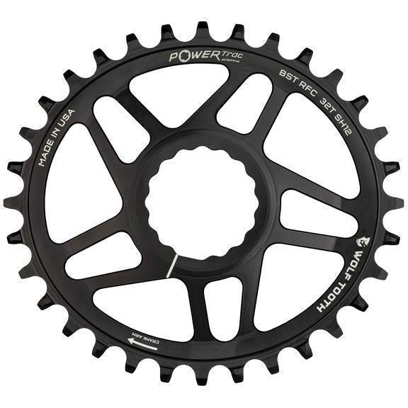 Wolf Tooth-Wolf Tooth Elliptical Direct Mount Chainring for Easton Cinch-Black-36t-WTOVALEAST36-saddleback-elite-performance-cycling