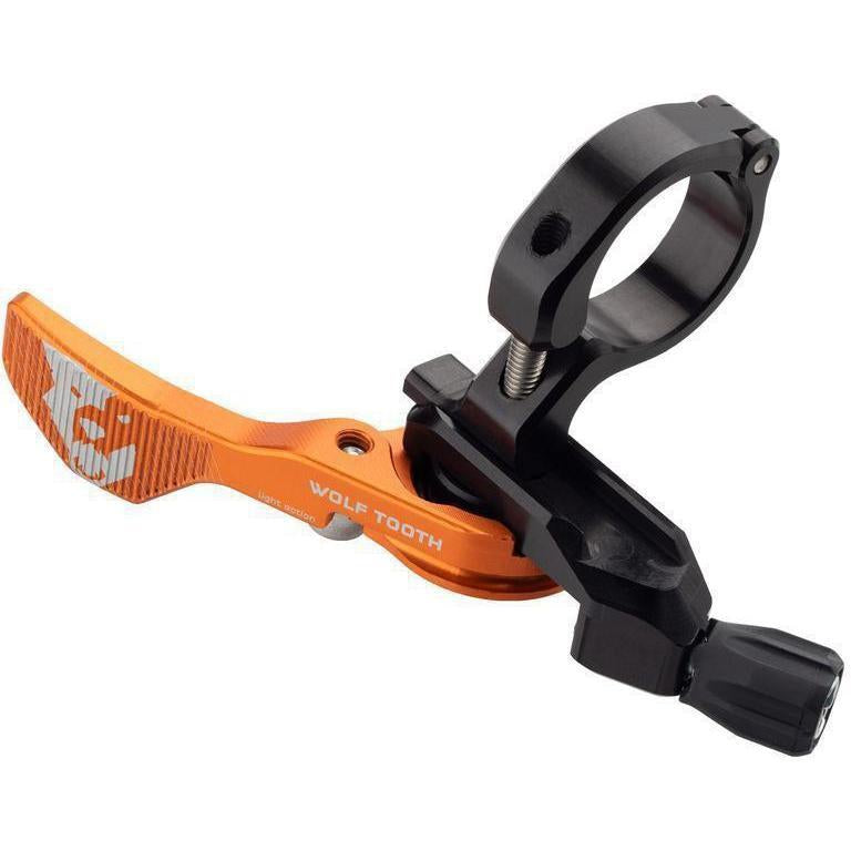 Wolf Tooth-Wolf Tooth Remote Light Action Dropper Lever - Limited Edition-Orange-22.2mm-WTREMOTELACLMPORG-saddleback-elite-performance-cycling