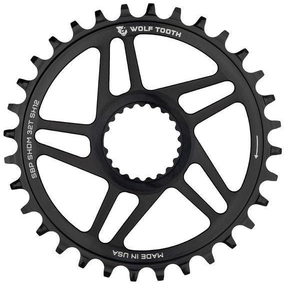 Wolf Tooth-Wolf Tooth Direct Mount Chainring for Shimano Cranks - HG+-Black-34t-WTSHDM34BSTSH12-saddleback-elite-performance-cycling