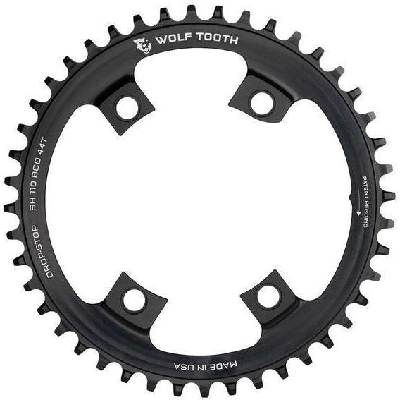 Wolf Tooth-Wolf Tooth 110 BCD Asymmetric 4-Bolt for Shimano Cranks-Black-36t-WTSH11036-saddleback-elite-performance-cycling