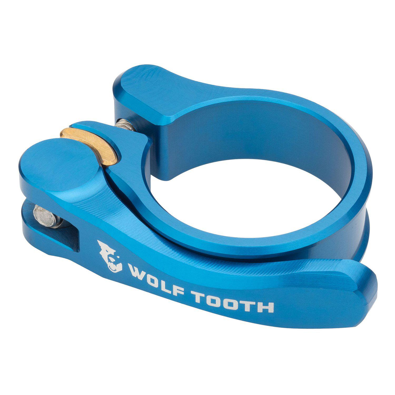 Wolf Tooth-Wolf Tooth Seatpost Clamp Quick Release-Blue-28.6mm-WTSC29BLUQR-saddleback-elite-performance-cycling