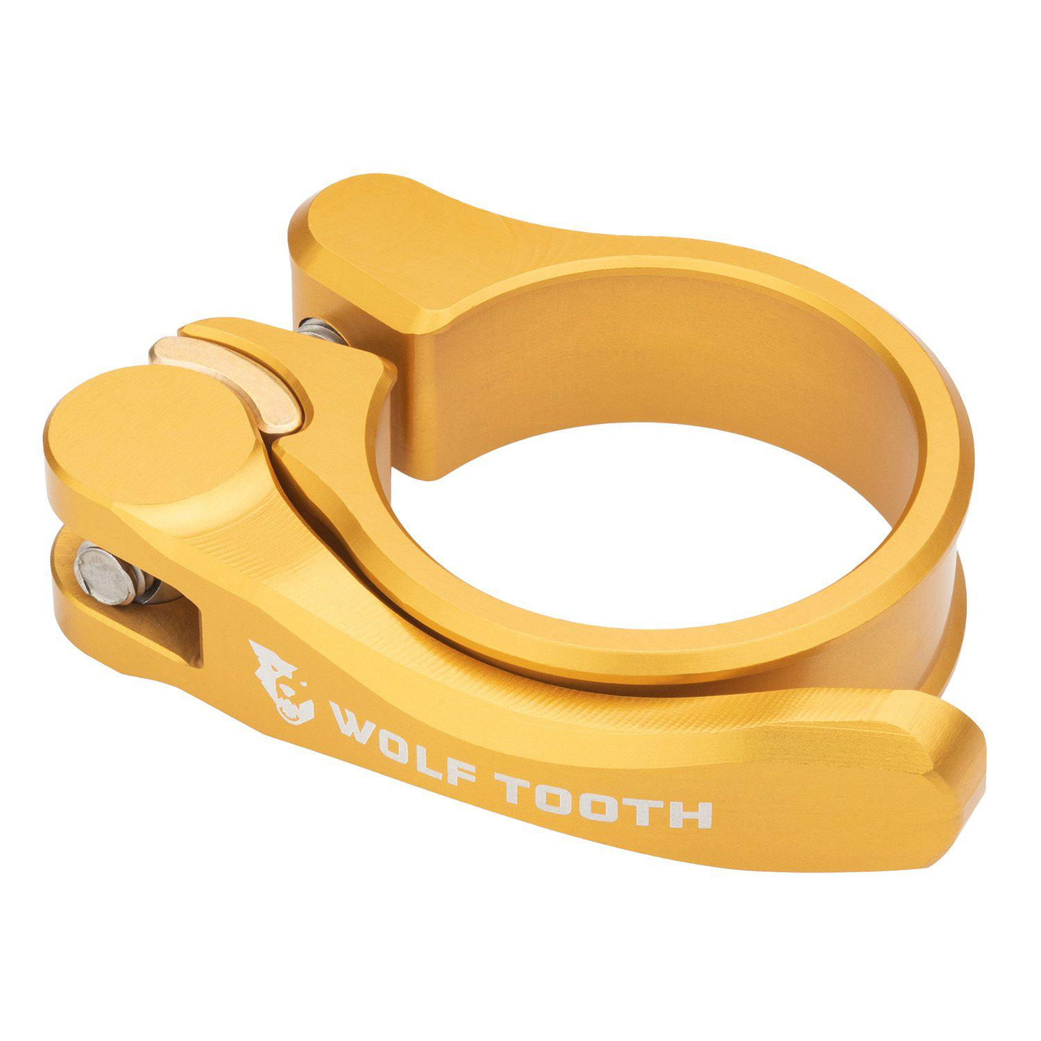 Wolf Tooth-Wolf Tooth Seatpost Clamp Quick Release-Gold-28.6mm-WTSC29GLDQR-saddleback-elite-performance-cycling