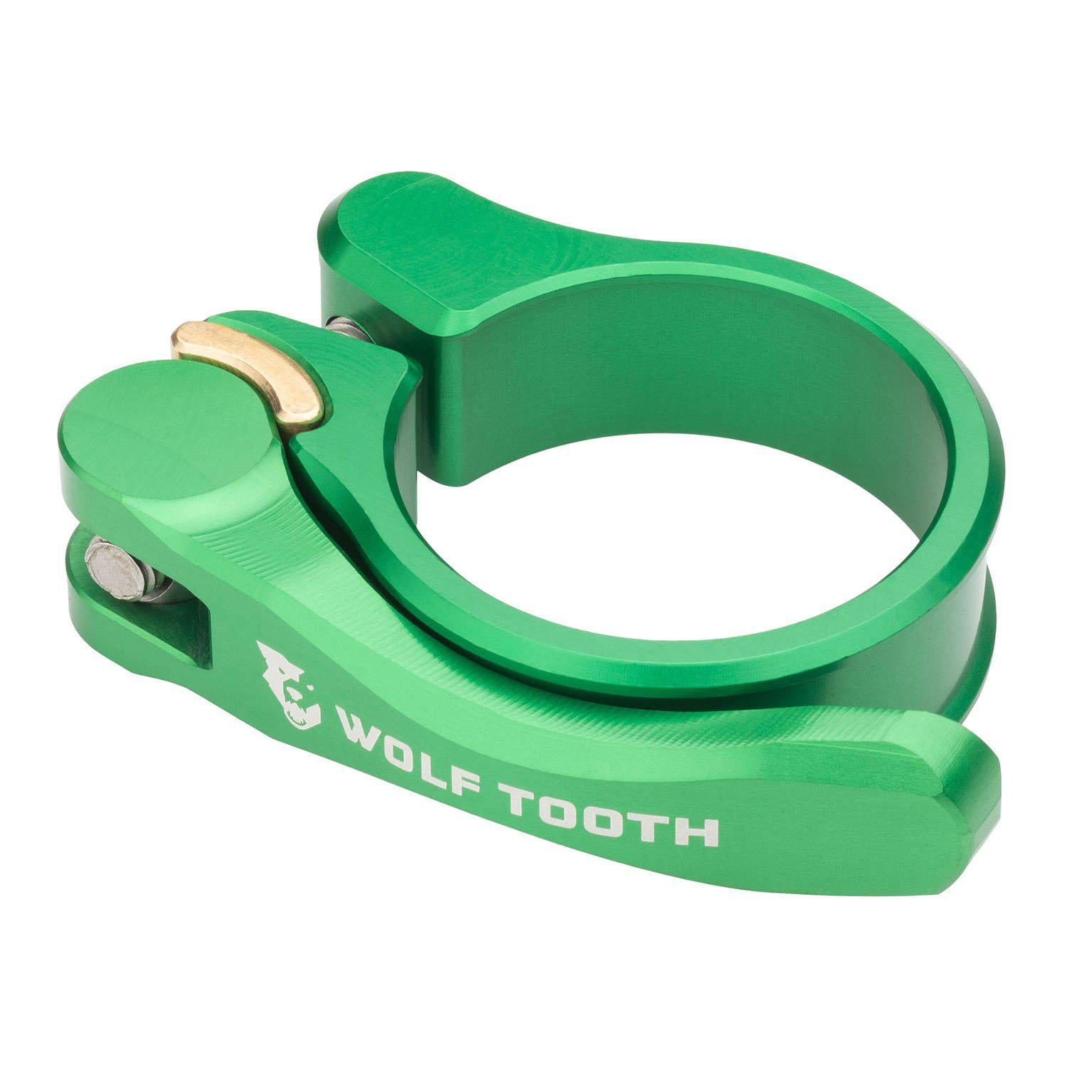 Wolf Tooth-Wolf Tooth Seatpost Clamp Quick Release-Green-28.6mm-WTSC29GRNQR-saddleback-elite-performance-cycling