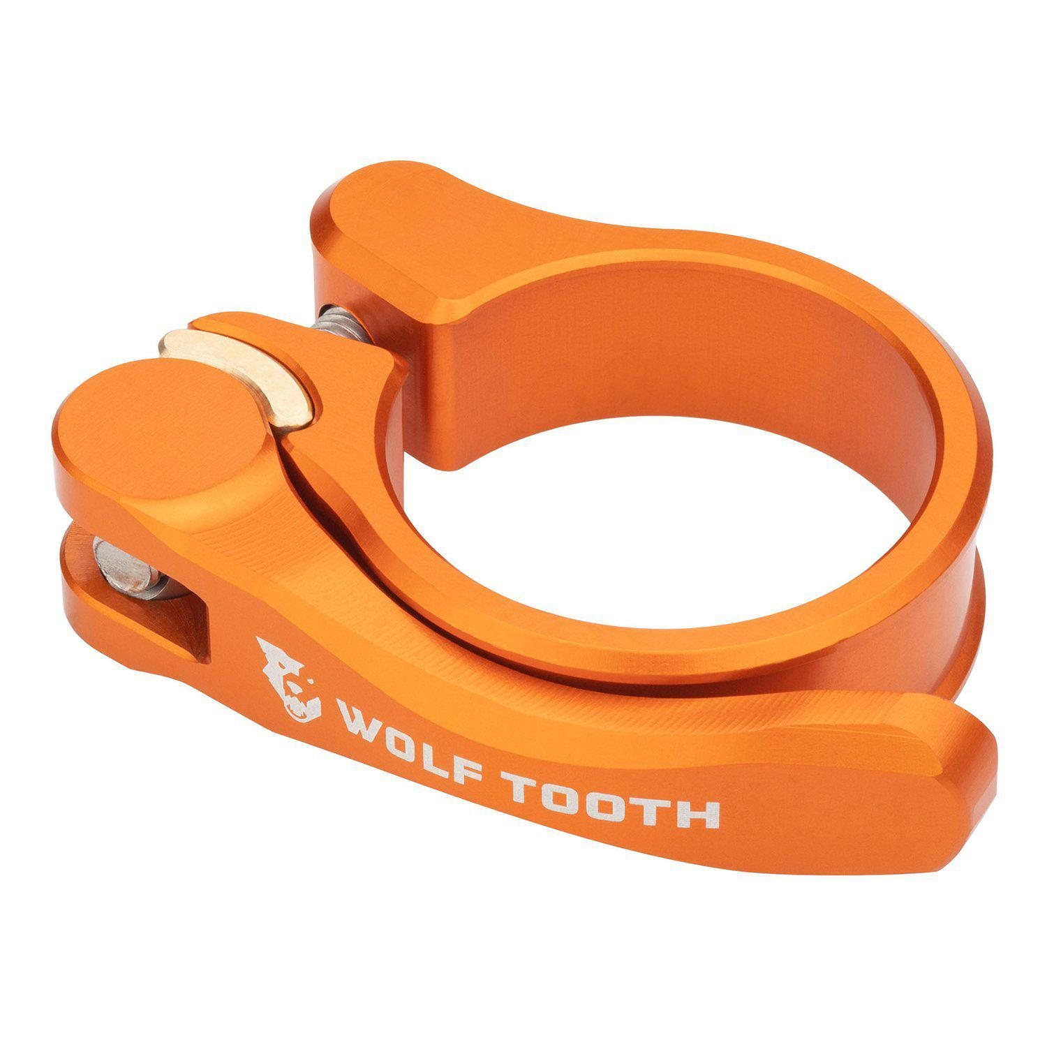 Wolf Tooth-Wolf Tooth Seatpost Clamp Quick Release-Orange-28.6mm-WTSC29ORGQR-saddleback-elite-performance-cycling