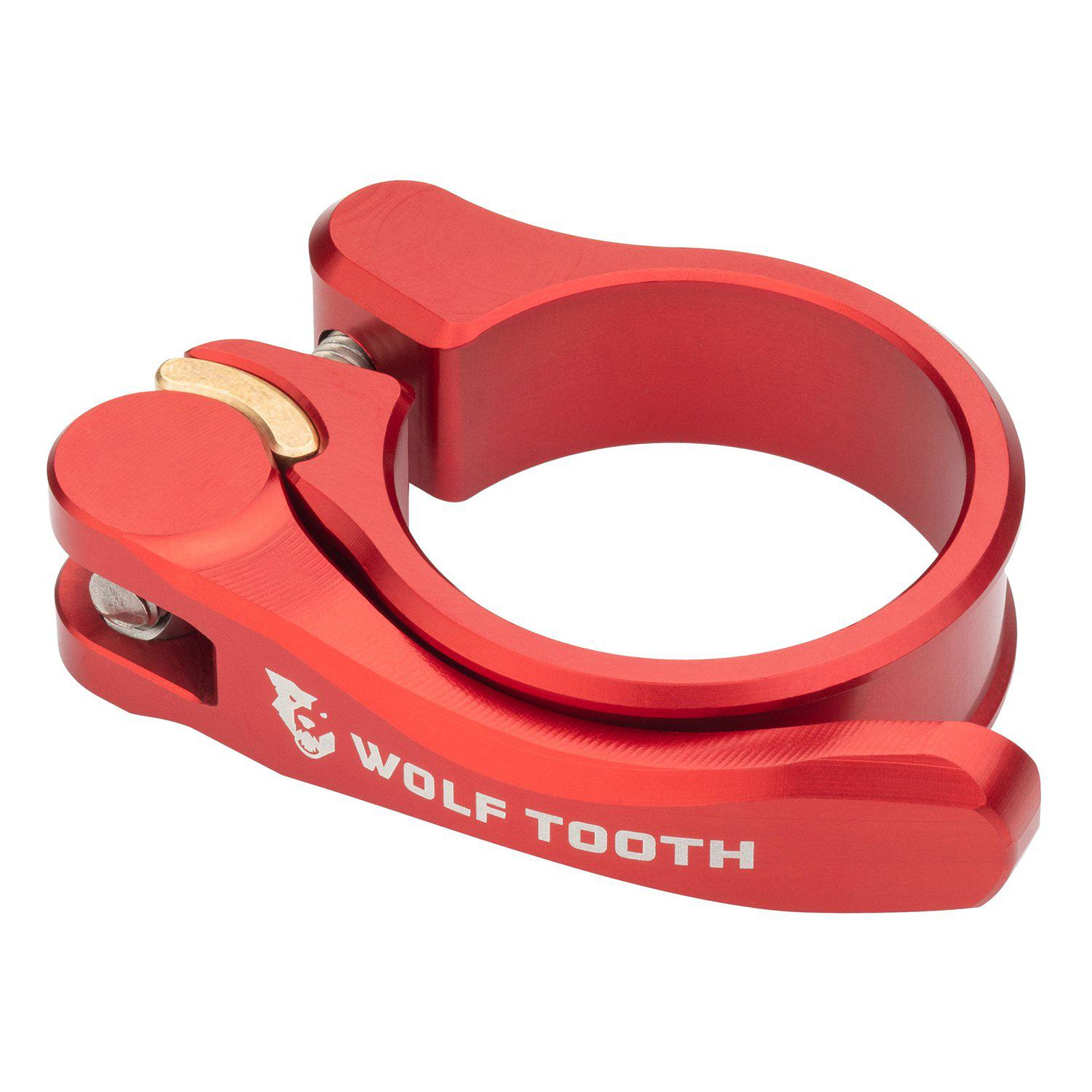 Wolf Tooth-Wolf Tooth Seatpost Clamp Quick Release-Red-28.6mm-WTSC29REDQR-saddleback-elite-performance-cycling
