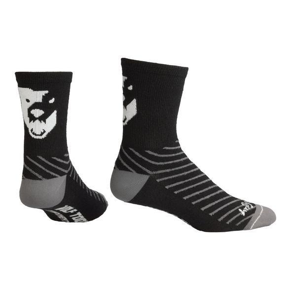 Wolf Tooth-Wolf Tooth Sock Guy Wool Socks-Black/White-L/XL-WTSGSOCK1L-saddleback-elite-performance-cycling