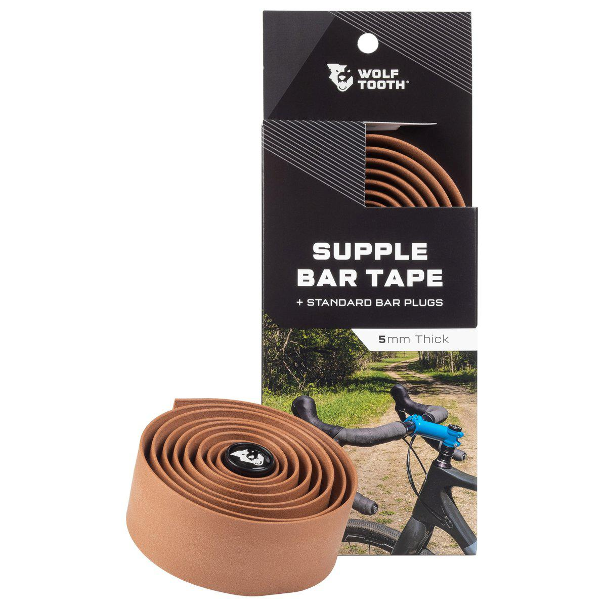 Wolf Tooth-Wolf Tooth Supple Bar Tape-Brown-UNI-WTSUPPLETAPEBRN-saddleback-elite-performance-cycling
